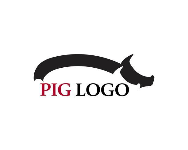 Logo de cabeza de cerdo animal vector