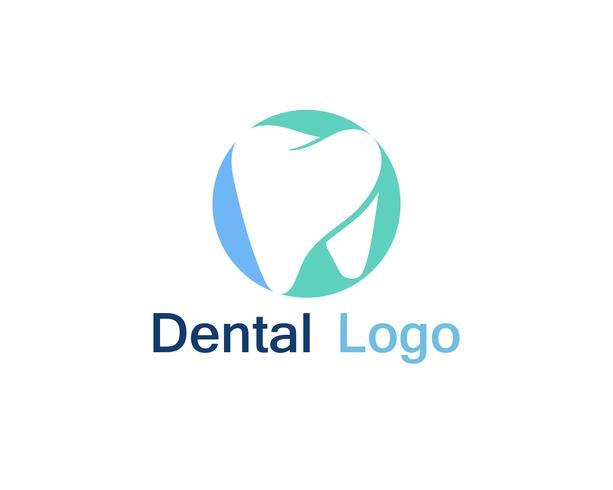 Logotipo y símbolo de atención dental.