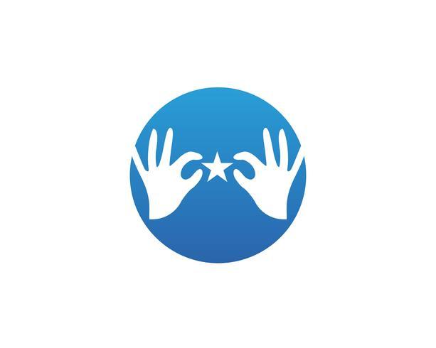 Icône de modèle pour le logo et les symboles de soins des mains