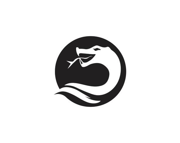 Projeto de ilustração vetorial ícone de cobra
