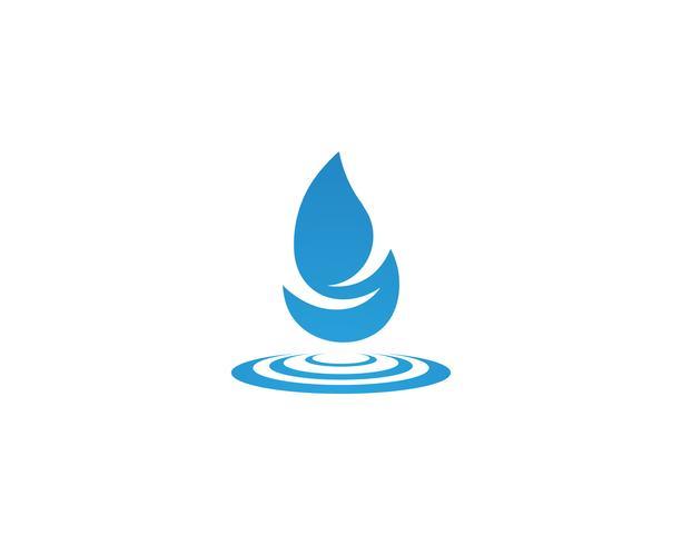 Gota de água Logo Template vector design ilustração