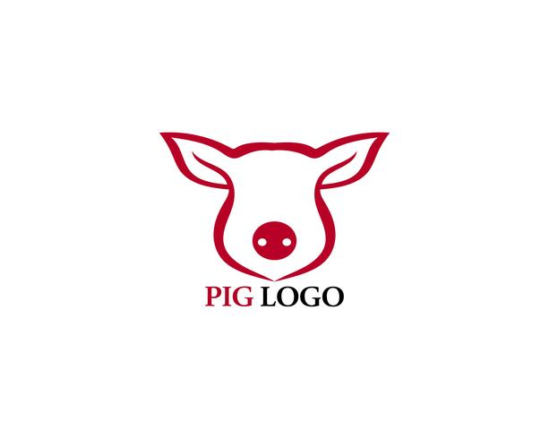Pig head logo animal