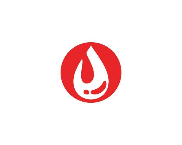 Logo icona di sangue vettoriale