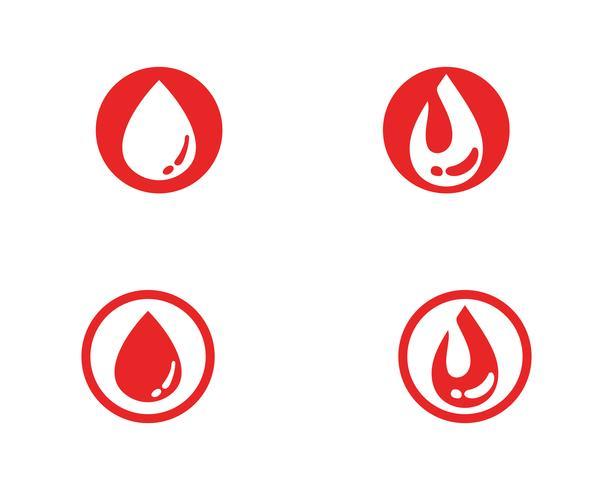 Blut Vektor Icon-Logo