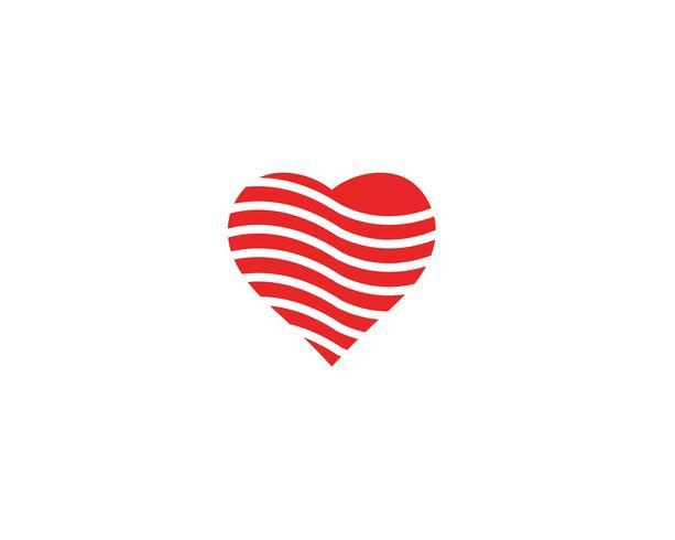 Liebes-Logo und Symbole Vektor-Schablone