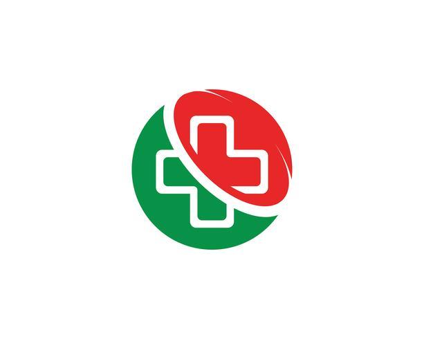 Vector de iconos de plantilla de logotipo y símbolos de hospital