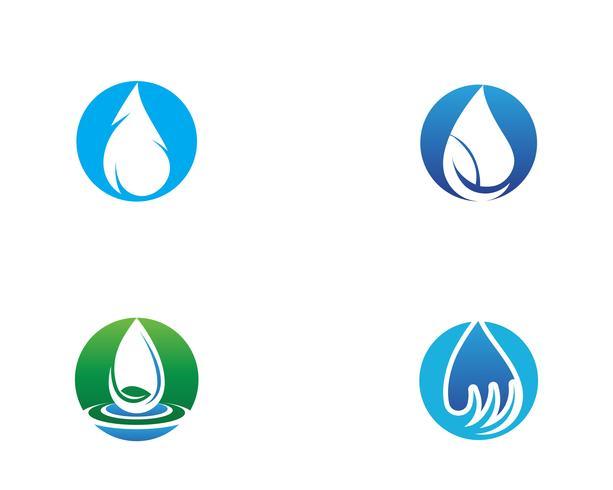 Gota de água Logo Template vector
