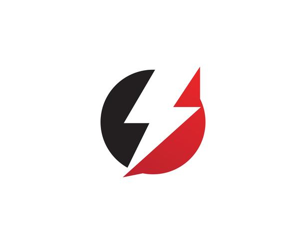 Flash thunderbolt Template vector icon illustration design
