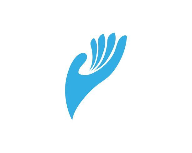 Handpflege-Logo und Symbole Vorlage Symbol
