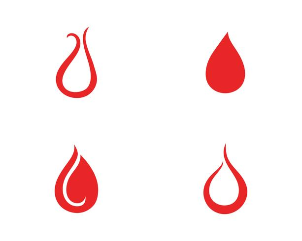Logotipo de ícone de vetor de sangue
