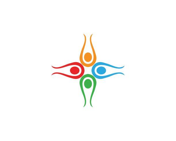 As pessoas da comunidade importam logotipo e símbolos