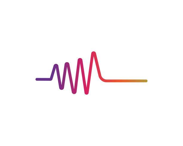Schallwellen-Vektor-Illustration