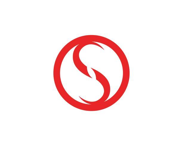 Icone di vettore del modello di logo e simboli di S