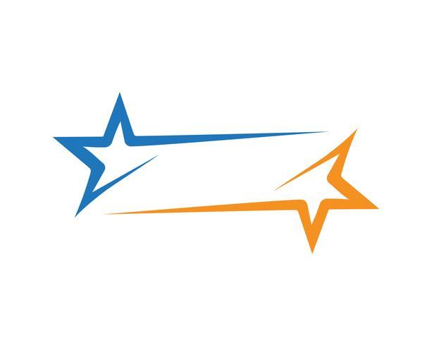 Plantilla de logo estrella vector icono ilustración