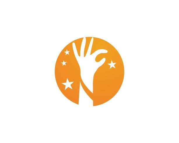 Hand care logo and symbols template icon