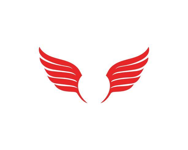 Falcon Wing Logo Template vector pictogram