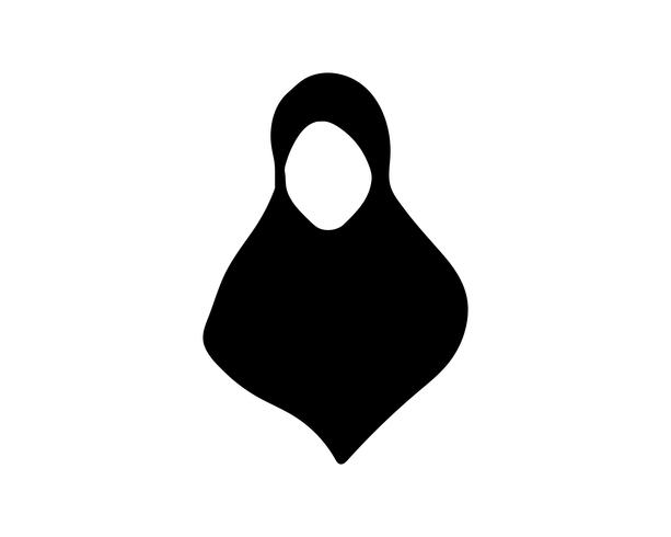 Hijab vector black templates