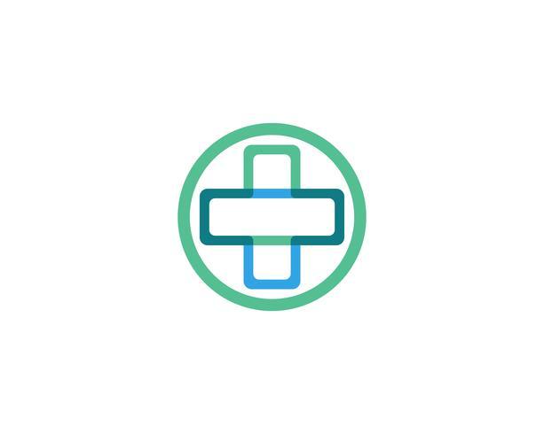 Vetor de ícones de modelo de logotipo e símbolos de hospital