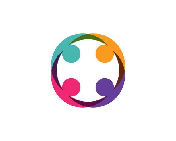 Comunidad, red e icono social. vector