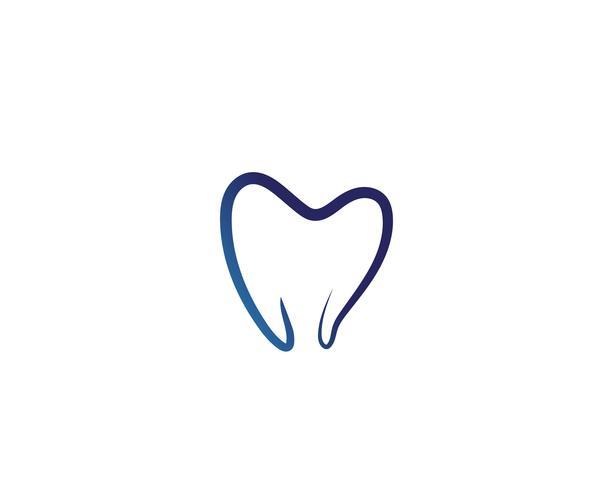 Zahnpflegelogo und Symbolschablonenikonen-APP