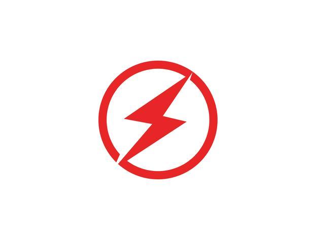 Diseño del ejemplo del icono del vector de la plantilla del rayo de destello
