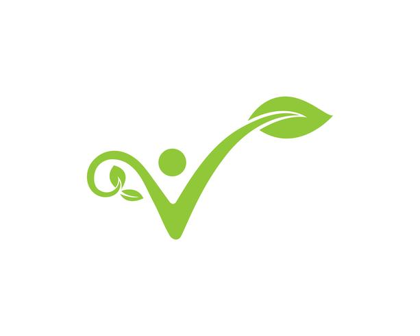green leaf ecology nature element vector icon