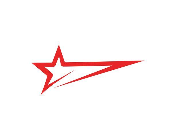 Star logo template vector icon ilustração