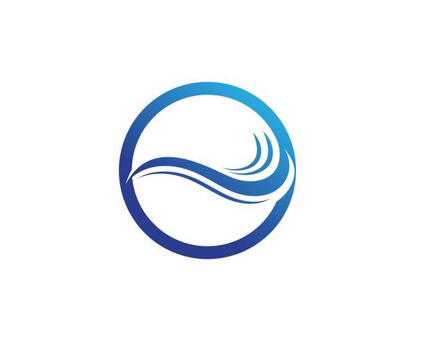 Wasserwelle Logo Template-Vektorillustrationsdesign