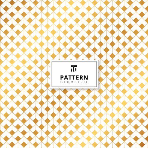 Teste padrão abstrato da dimensão dos quadrados do ouro no fundo branco. vetor