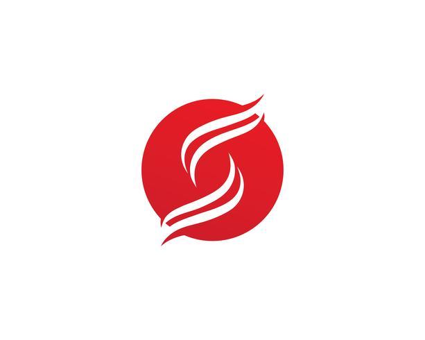 S Logo und Symbolschablonenvektor