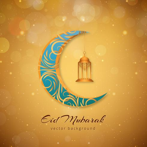 Eid Mubarak fond islamique moderne vecteur