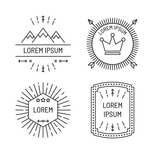 Coleção de design de etiquetas