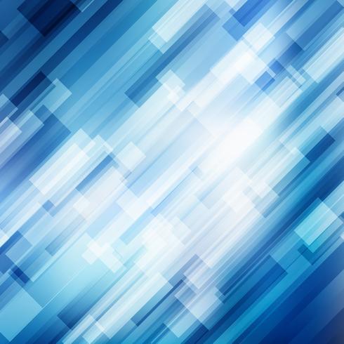 As linhas azuis diagonais geométricas abstratas sobrepõem o conceito brilhante da tecnologia do fundo do movimento do negócio da camada.
