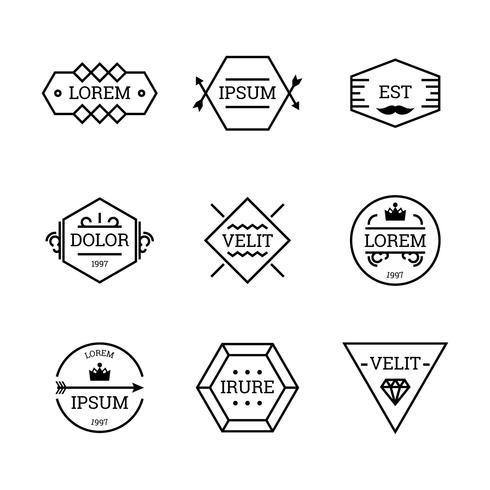 Set di badge vintage