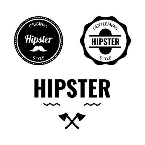 Insignia de Hipster vector