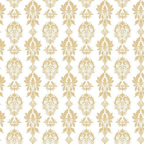 Real victoriana de patrones sin fisuras. Damasco patrón real