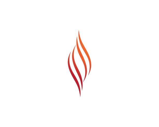 Chama de fogo logotipo vetor modelo Logo, óleo de gás e energia logotipo