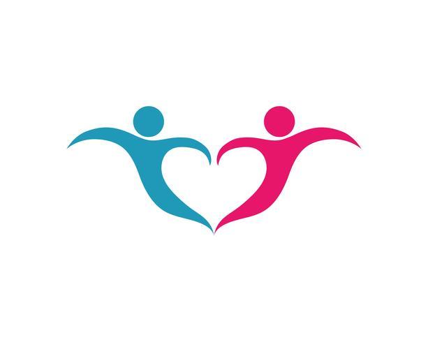 Adopción y cuidado de la comunidad Logo plantilla vector icono