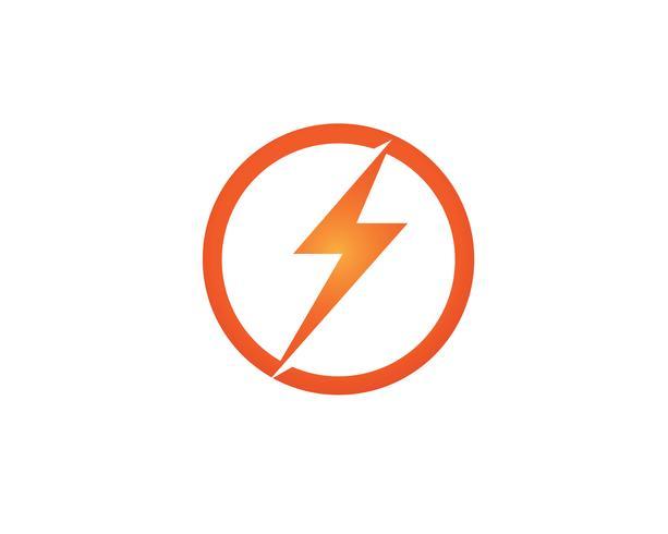Flash coup de foudre modèle vector icon design illustration