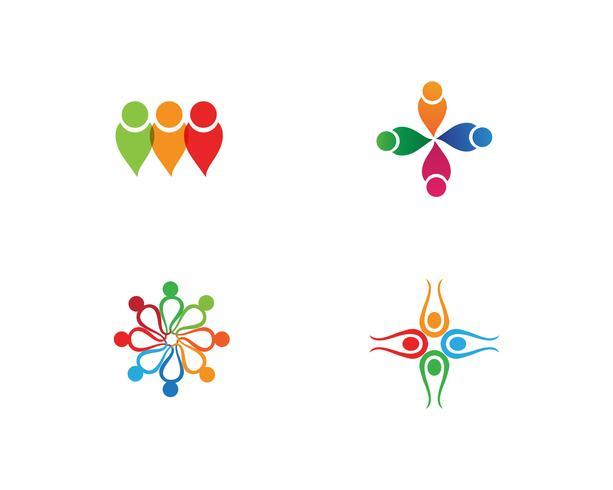 Gemeenschapsmensen geven om logo en symbolen
