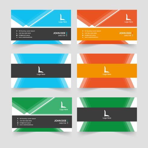 Conception de carte de visite créative abstraite