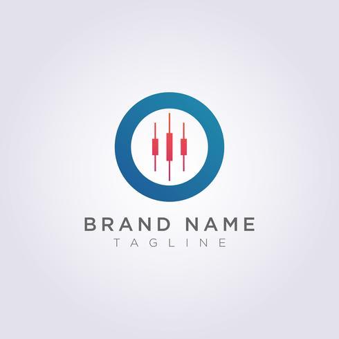 Logo Design combina círculos com castiçais para o seu negócio ou marca