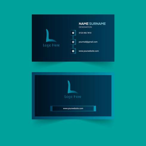 Kreatives Visitenkarten-Design vektor