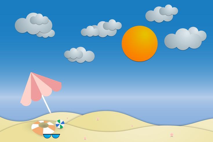 Sommer Strand und Meer Hintergrund anzeigen