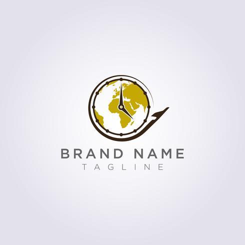 Flugzeug Logo Design, das rund um die Uhr für Ihr Unternehmen oder Ihre Marke kreist