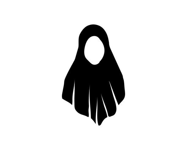Modèles de vecteur noir Hijab