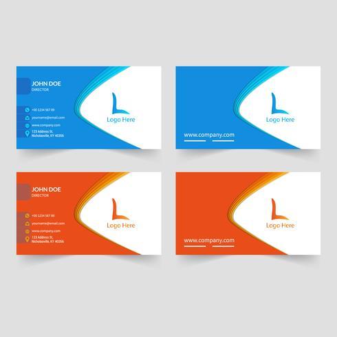 Abstrakte kreative Visitenkarte-Design-Schablone vektor