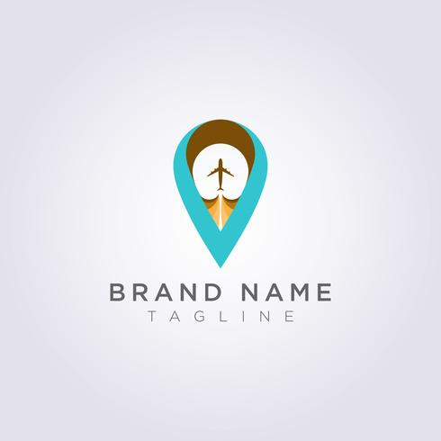 Logo Design Kombinierte Buchstaben V, Flugzeuge und Zielsymbole für Ihr Unternehmen oder Ihre Marke