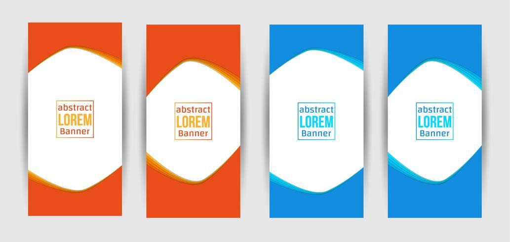 Banner criativo abstrato Design