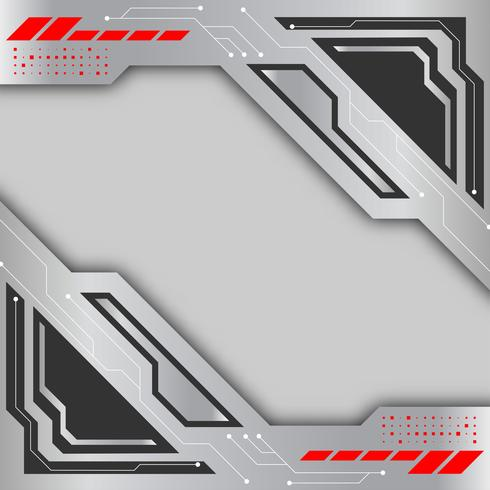Gray and Silver color vector background. Digital technology abstract background concept